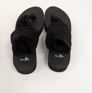 Sanuk yoga sling platform sandals